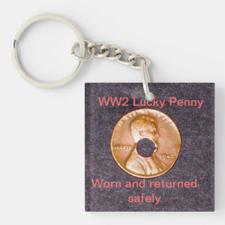 Keychain/WW2 Lucky Penny/Square/Double-sided