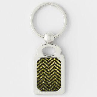 Keychain Zig Zag Sparkley Texture