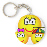 Single mother emoticon   keychains