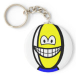 Rugby ball smile   keychains