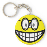 Smile with glasses   keychains