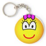 Girl emoticon   keychains
