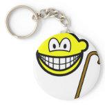 Walking cane smile   keychains