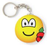 Poppy emoticon   keychains