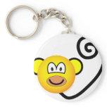 Monkey emoticon   keychains