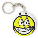 Paperclipped smile   keychains