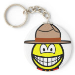 Canadian mountie smile   keychains