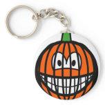 Jack-o-lantern smile   keychains