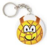 Giraffe emoticon   keychains