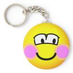 Shy emoticon   keychains