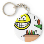 Bottle bank smile Recycling  keychains