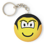 The Rock emoticon WWF  keychains