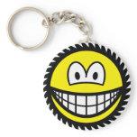 Circle saw smile   keychains