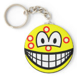 Acne smile   keychains