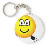 Tickled emoticon   keychains