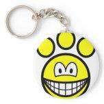 Paw print smile   keychains