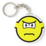 Scowling buddy icon   keychains