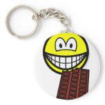Chocolate eating smile   keychains