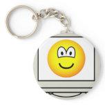 Computer screen emoticon   keychains
