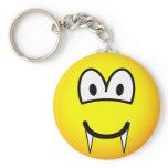 Vampire emoticon (before lunch)  keychains
