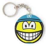 UN soldier smile   keychains
