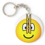 Pegged nose emoticon   keychains