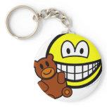 Teddy bear toy smile   keychains