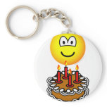 Blowing out candles emoticon   keychains