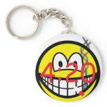 Stoner 4:20 smile   keychains