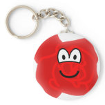 Rose emoticon   keychains
