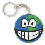 Earth smile   keychains