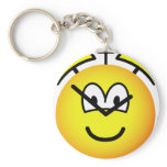 Alarm clock emoticon   keychains