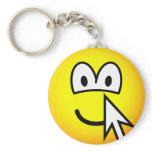 Clickable emoticon   keychains