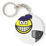 Lazer gun cop smile   keychains