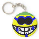 Swimming smile   keychains