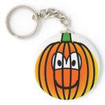 Jack-o-lantern emoticon   keychains