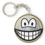Euro coin smile   keychains