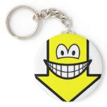 Down smile arrow  keychains