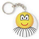 Ballerina emoticon   keychains