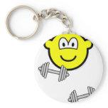 Dumbbells buddy icon Free weight training  keychains