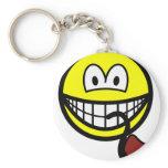 Pipe smoking smile   keychains