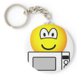 Microwaving emoticon   keychains