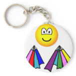 Shopping emoticon Bags  keychains