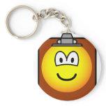 Clipboard emoticon   keychains
