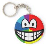 Pie chart smile   keychains
