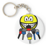 Press conference smile   keychains