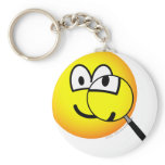Magnified emoticon   keychains
