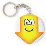 Down emoticon arrow  keychains