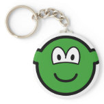 Colored buddy icon green  keychains