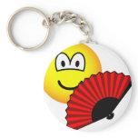 Hand fan emoticon   keychains